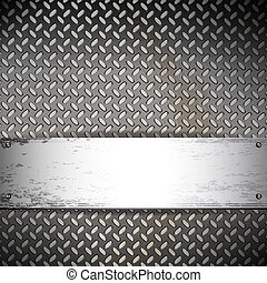 Fluted metal background.