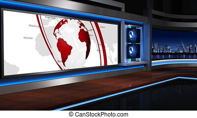 Virtual studio background_055mov - The real TV news...