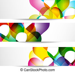 Abstract banner with forms of empty frames for your web...