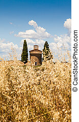 Tuscan country - Cappella di Vitaleta Vitaleta Church, Val...