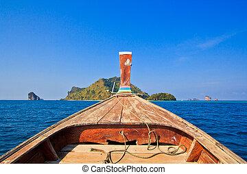 Ship Nose Front View poda Island thailand