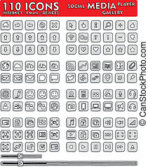 Social Media Hand-Drawn Icons - 110 - Hand-drawn vector...