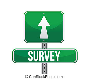 depicting a sign with a survey concept.