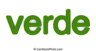 "Verde - The word ""Verde"" (""Green"" in spanish). Symbol for..."