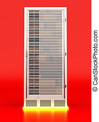 Server Tower - 3D rendered Illustration.