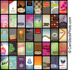 40 business cards - variety of 40 vertical business cards on...