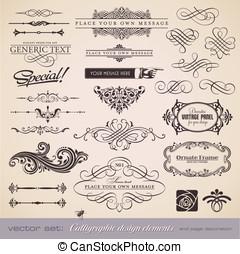Calligraphy set 5 - vector set: calligraphic design elements...
