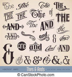 Thes and Ands - vector set: ornate thes ands - perfect for...