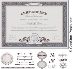 Certificate or coupon - certificate or coupon template with...