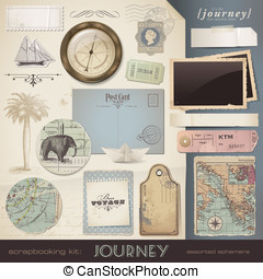 Scrapbooking elements: Journey - digital scrapbooking kit:...