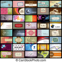 Business cards - variety of 40 detailed horizontal business...