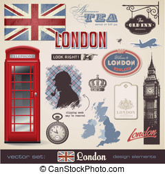 London design elements - vector set: London - variety of...