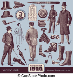 Gentlemens Fashion and Accessories 1900