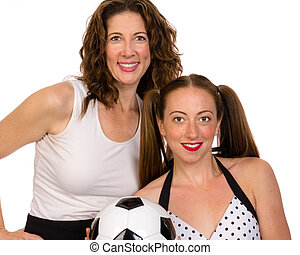 Proud mom and soccer player daughter - A proud mom and her...