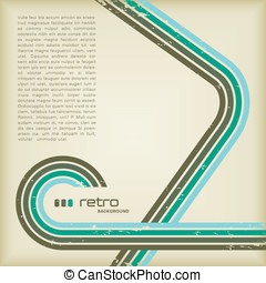 Retro background - grungy retro-background with copyspace...