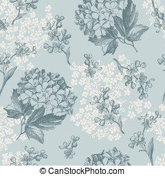 Retro floral pattern with flowers - retro floral pattern...