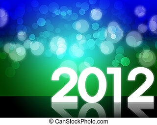 2012 Happy new year background with beautiful bokeh