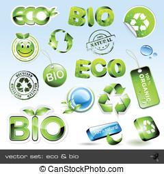 Vector set: eco and bio - vector set: eco bio - 16 items...