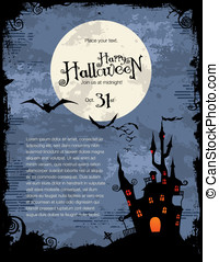 Halloween background - grungy Halloween background with...