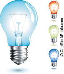 Lightbulb - realistic vector-illustration of a lightbulb in...