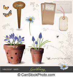 Vector set: gardening - vector set: gardening - build your...