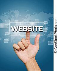 Hand pressing website button
