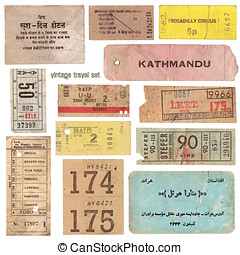 Vintage tickets - collection of vintage tickets from around...