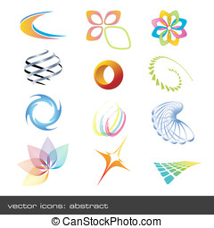 Abstract vector-icons - set of abstract vector-icons