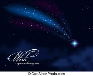 Wish upon a shooting star - wish upon a shooting star -...