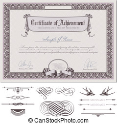 Certificate or coupon template - romantic certificate or...