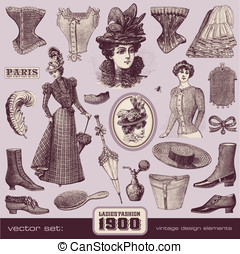 Ladies Fashion and Accessories 1900