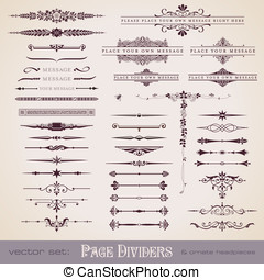 Dividers and ornate headpieces - large collection of page...