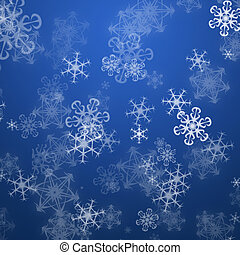 Christmas snow flakes background - Christmas blue background...