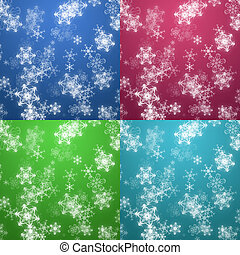 Four colors Christmas background