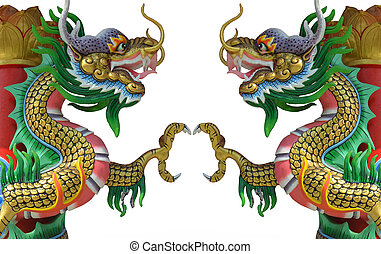mód, ikergyermek, kínai, sárkány