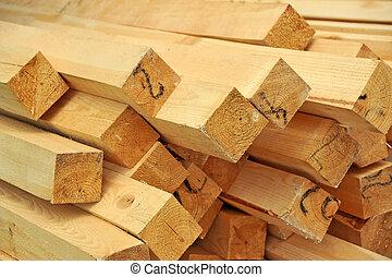 木制, 橫樑