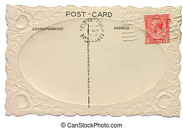 Vintage British postcard with a King Edward one penny stamp