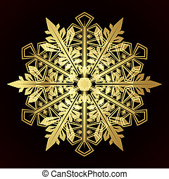 Card with christmas snowflake, vector illustration