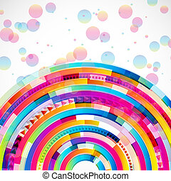 Abstract digital circles vector background