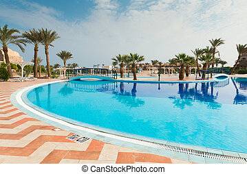 Egypt holiday resort - Large swimming pool at Egypt holiday...
