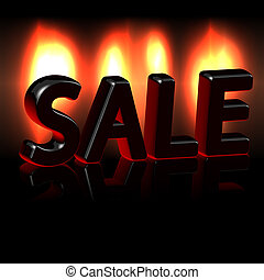 Hot sales over fire vector illustration background