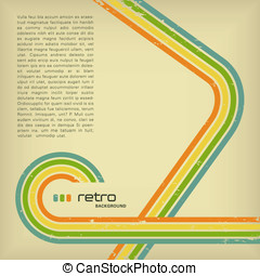 Retro background - retro background with copyspace for your...