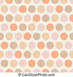 seamless retro polka dots texture background