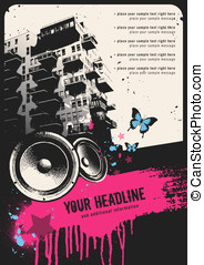 Retro urban party flyer template - retro urban party flyer...