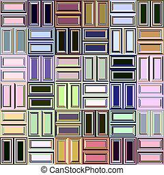 pastel blocks pattern