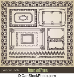 Assorted borders and frames - vector set: assorted borders...