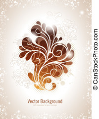 Background in warm colors - elegant swirly vector background...