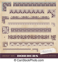 Seamlessly tiling borders - set of seamlessly tiling borders...