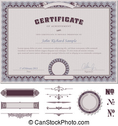 Certificate template - certificate template with additional...