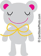 vector bear ribbon big